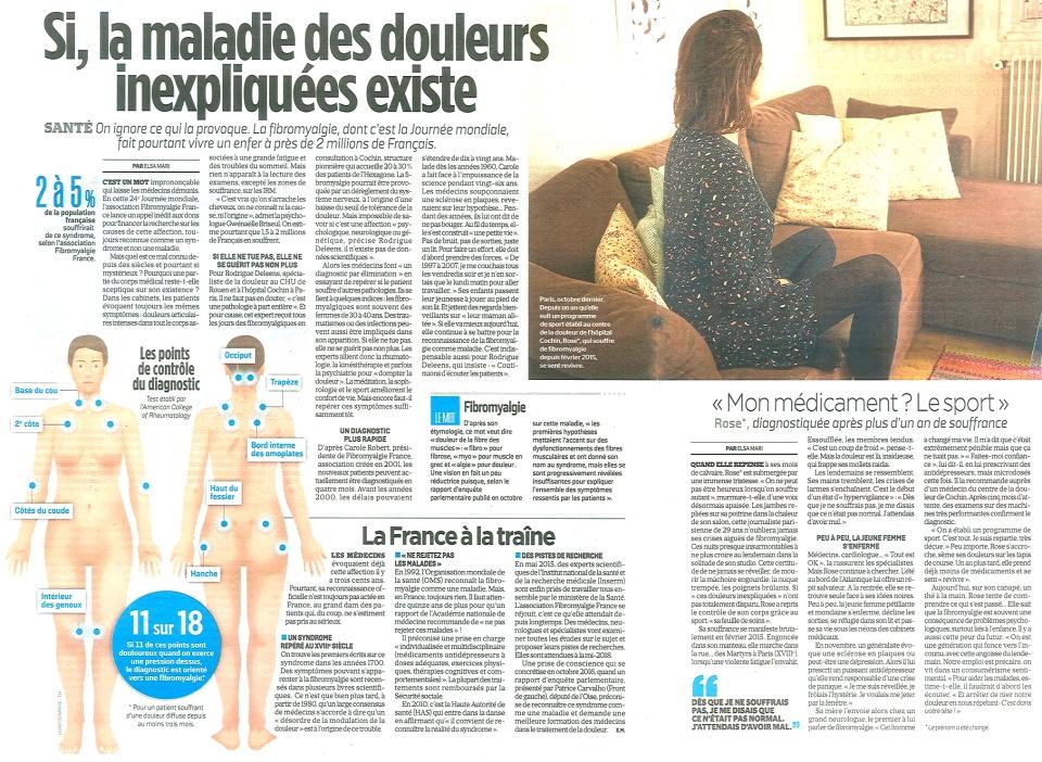 05 Fibromyalgie, Le Parisien 12 05 2017